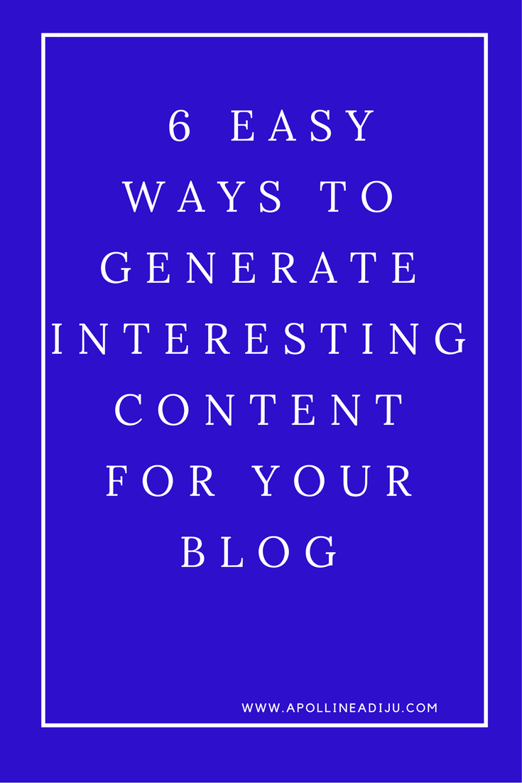 Content For Your Blog